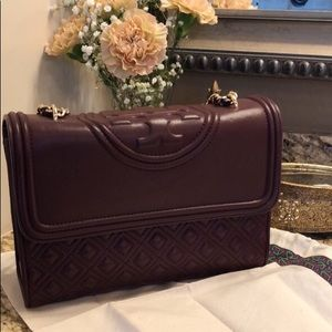 Tory Burch Bags - Tory Burch Fleming Merlot